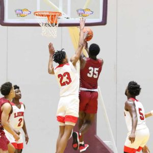Dunham and Booker T. Washington face off in the second half of the Allstate Sugar Bowl National Prep Classic Boys State Finals Championship Game on Saturday, Jan 4, 2020, at the Alario Center in Westwego. (Peter Forest/WGNO-TV)